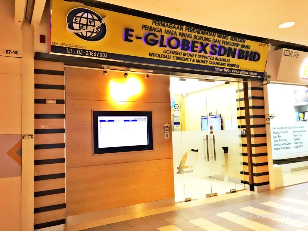 E-Globex Sdn Bhd (Money Changer) @ Berjaya Times Square